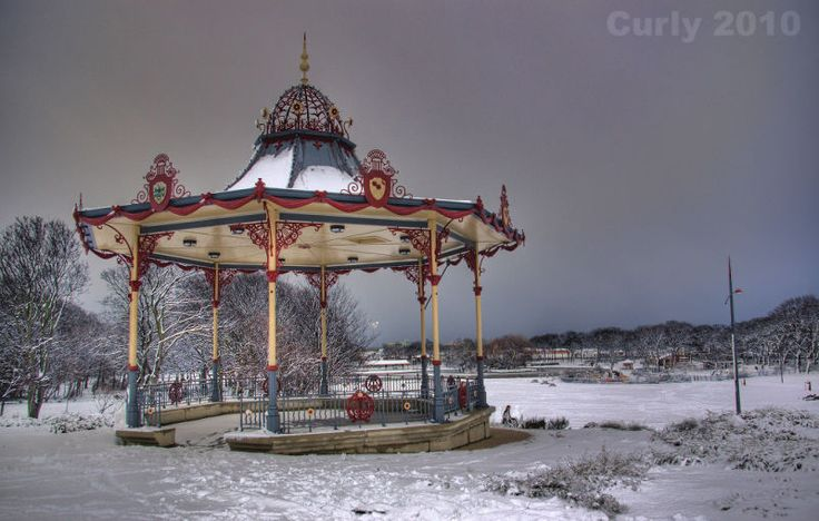 South Marine Park band stand, South Shields.