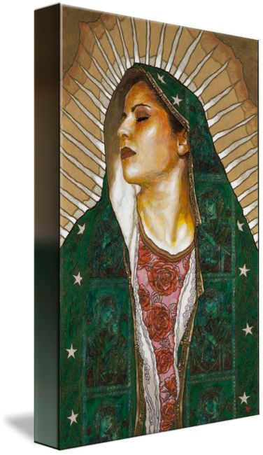 """Virgen+de+Guadalupe""+by+George+Yepes,+Los+Angeles+//++//+Imagekind.com+--+Buy+stunning+fine+art+prints,+framed+prints+and+canvas+prints+directly+from+independent+working+artists+and+photographers."