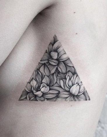 Lotus flower triangular glyph by Dasha Sumkina