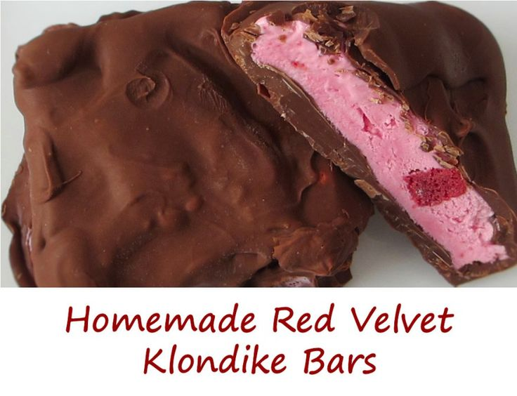 Klondike bars are a very dangerous thing. Whatever gene you have to be born with to control yourself around them is one that I do not have. I thought that the store-bought ones were tempting enough until I made red velvet Klondike bars at home. Now I know what true temptation is.