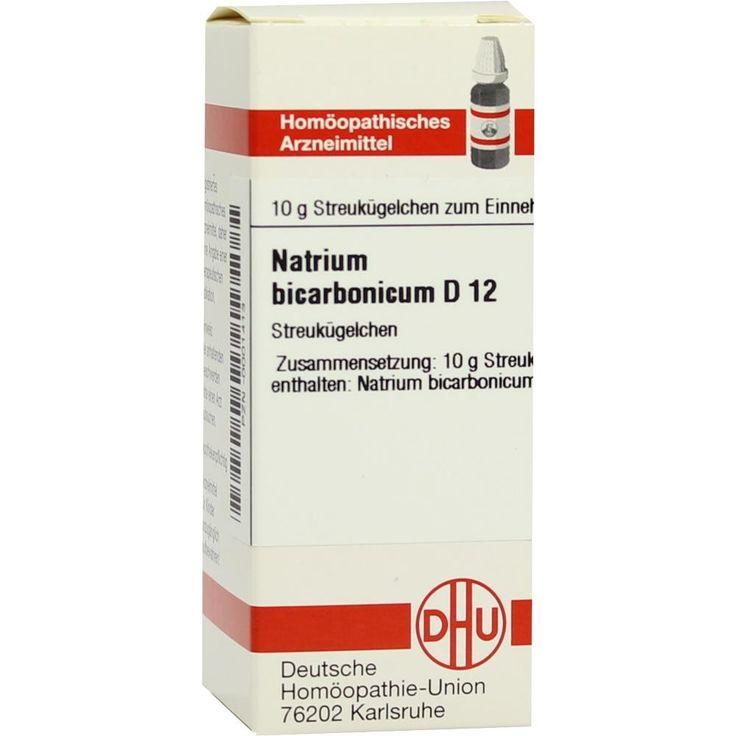 NATRIUM BICARBONICUM D 12 Globuli:   Packungsinhalt: 10 g Globuli PZN: 00001413 Hersteller: DHU-Arzneimittel GmbH & Co. KG Preis: 5,19…