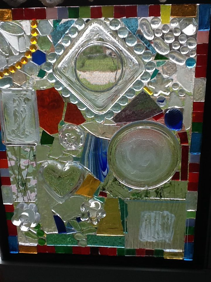 1000 Images About Stained Glass Out Of Old Dishes On