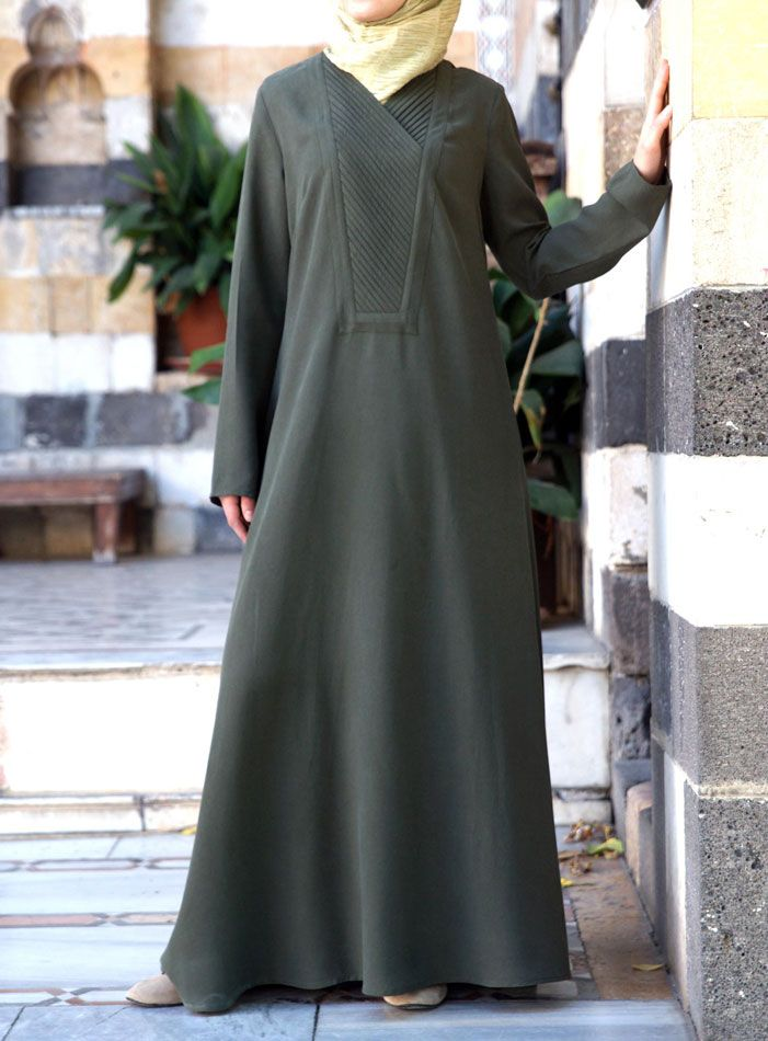 SHUKR | Abaya with Pleated Neckline UK: http://www.shukr.co.uk/Abaya-with-Pleated-Neckline-P8320C51.aspx