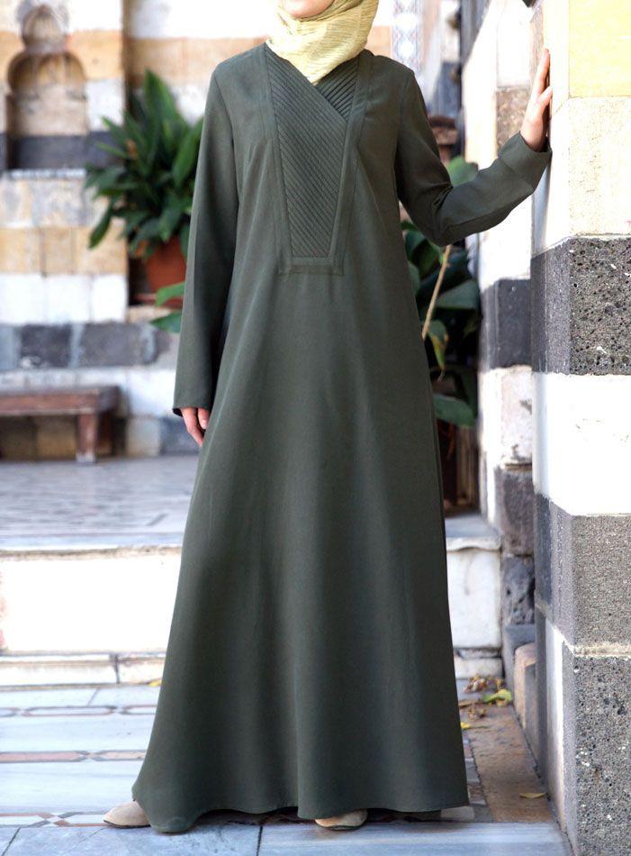 SHUKR   Abaya with Pleated Neckline UK: http://www.shukr.co.uk/Abaya-with-Pleated-Neckline-P8320C51.aspx