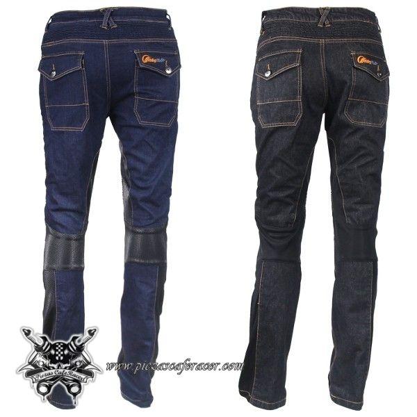 """Pantalones Vaqueros Moto Impermeables CE Modelo """"Basic Jeans"""" Con Proteccion en Rodillas Color Azul - 67,01€ - ENVÍO GRATUITO EN TODOS LOS PEDIDOS"""