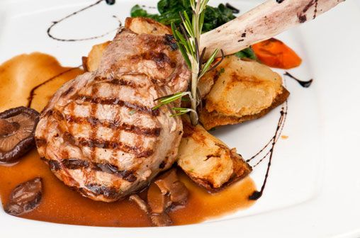 Veal Chops with Mushroom Demi-Glace