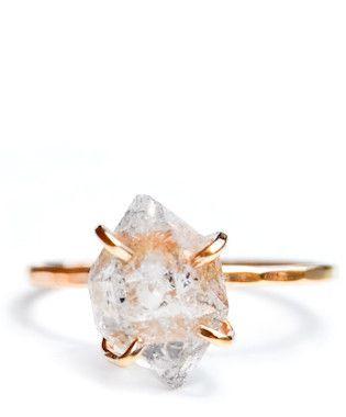 herkimer diamond claw ring, $148