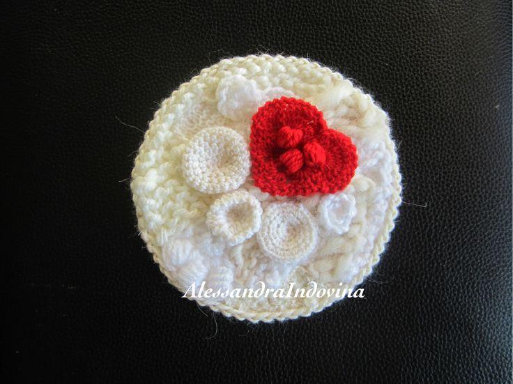 Freeform crochet. Quadro in lana