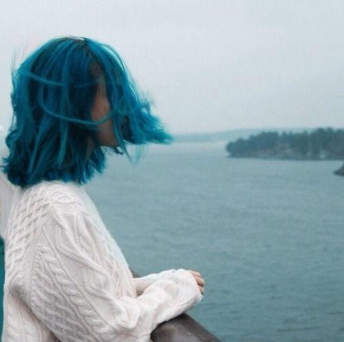 красиво, голубые волосы, мода, девушка, девчачье, гранж, волосы, инди, пастельные волосы, приятное, винтаж