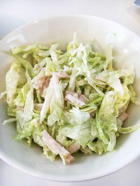 子供もパクパク☆レタスとハムの簡単サラダ