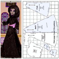Free Printable Monster High Doll Clothes Patterns - Bing images