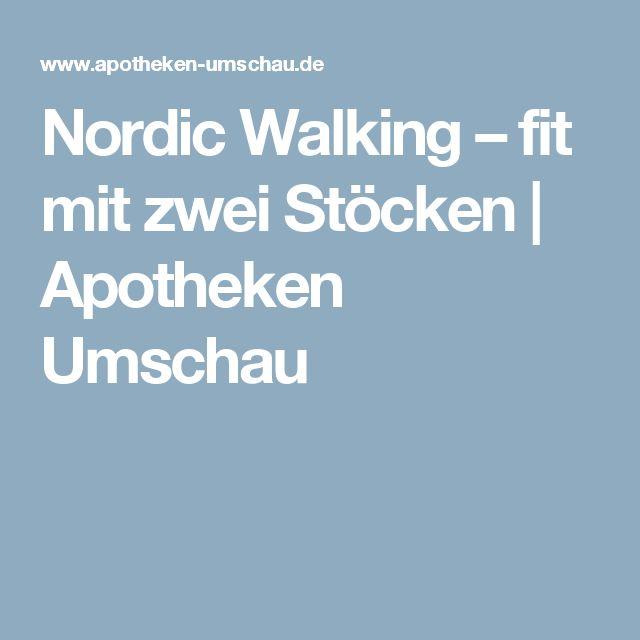 nordic walking fit mit zwei st cken apotheken umschau. Black Bedroom Furniture Sets. Home Design Ideas