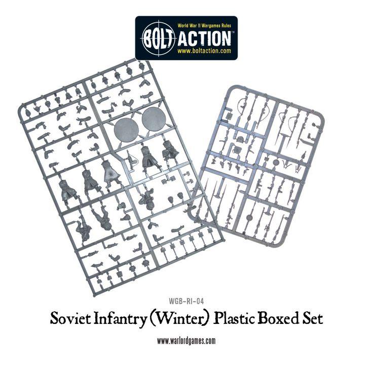 Soviet Winter Infantry plastic box set