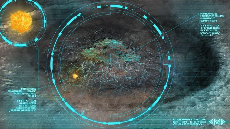 Megapolis Kronos (satellite view) #cybermythica #cyberpunk #mythology