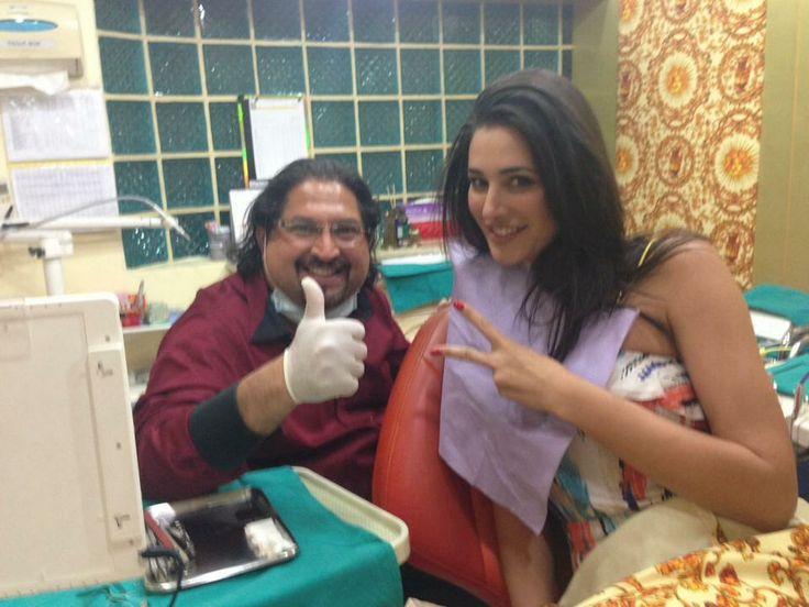 Bollywood Star #NargisFakhri at Dr. Sunil Dental Clinic