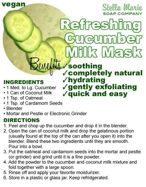 Refreshing Cucumber Milk Mask