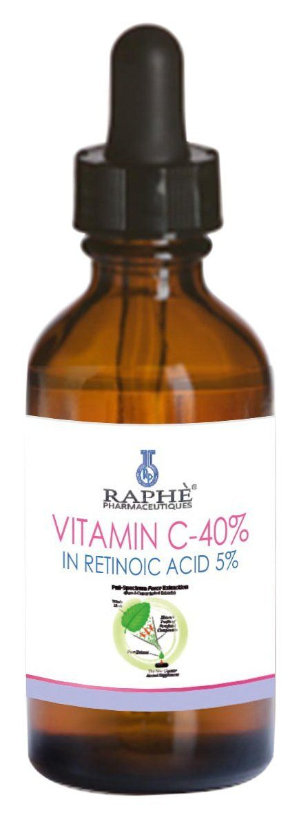 RAPHE PHARMACEUTIQUES High Potency Vitamin C-40% Concentrate Gel in Retinoic Acid, 60ml *** Click image for more details.