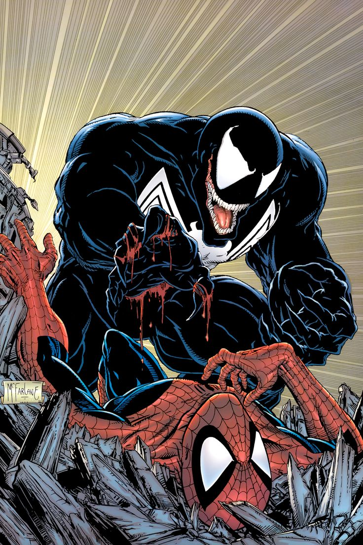 some awesome spider-man art from back in the day by todd mcfarlane