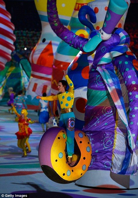 Dancers perform during the Opening Ceremony of the Sochi 2014 Winter Olympics