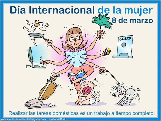 Resultado de imagen para dia internacional dela mujer en caricatura