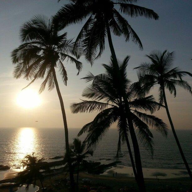 Sunset from thalassa in goa
