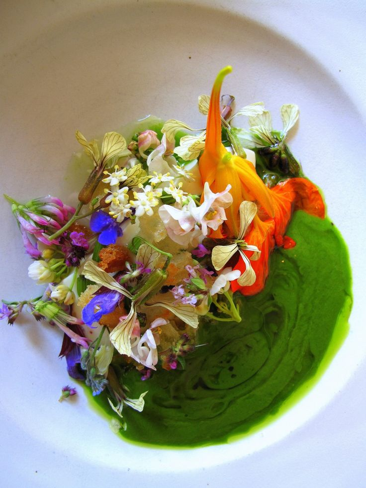 Salad at NOMA. Copenhagen, Denmark. Organic Nordic Cuisine. Currently ranked best restaurant in the world by most critics. Chef René Redzepi creates beautiful and unusual dishes using unusual local ingredients