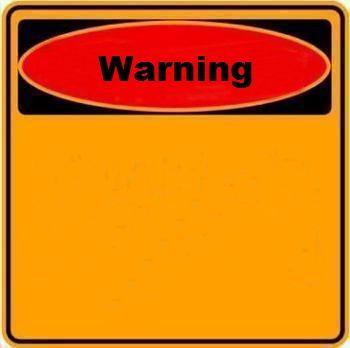 Warning Sign Blank Meme Template