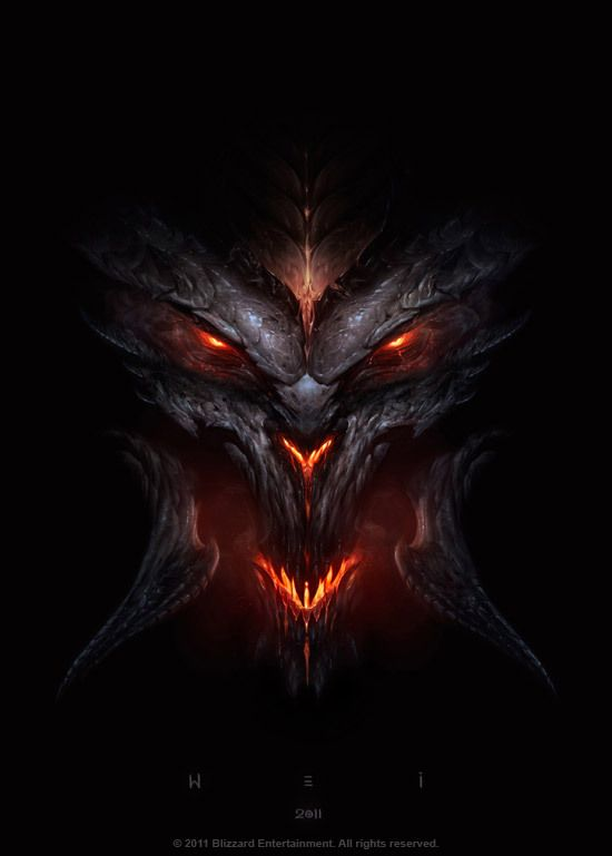 Gorgeous #Blizzard art by Wei Wang!: Digitalart, Art Illustrations, Fantasy Illustrations, Plays Games, Videos Games, Dark Eye, Concept Art, Digital Art, Diablo Iii