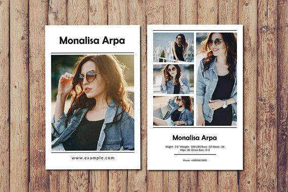Model Comp Card Template Fashion Modeling Comp Card Etsy Model Comp Card Card Template Word Template