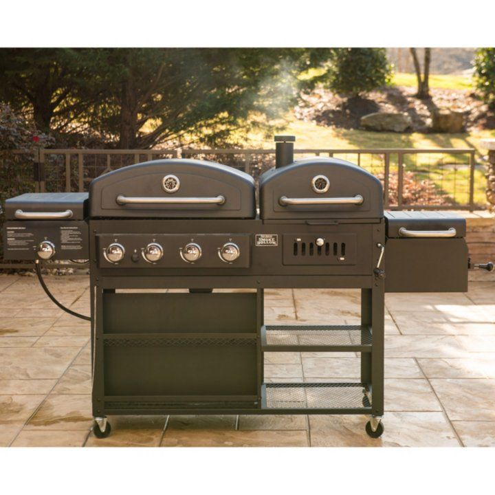 Smoke Hollow Pro Series 4 In 1 Gas Charcoal Combo Grill Sam S Club Gas Grill Smoker Combo Grills Gas Grill Smoker Combo
