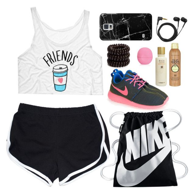 """#HIWO 1"" by wennynagane on Polyvore featuring NIKE, Casetify, Sennheiser, Invisibobble, Sun Bum, The Face Shop, Eos and HIWO"