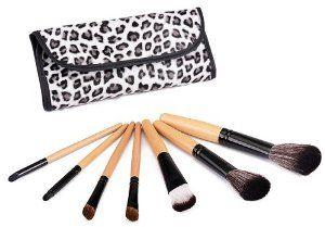 Glow Lot 7 Pinceaux maquillage fard ombre en trousse leopard gris: Amazon.fr: Parfum et Beauté