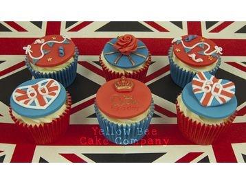 jubilee cupcakes.Jubilant Cupcakes, Jubilee Stuff, Jubilee Cupcakes, Cupcakes Rosa-Choqu