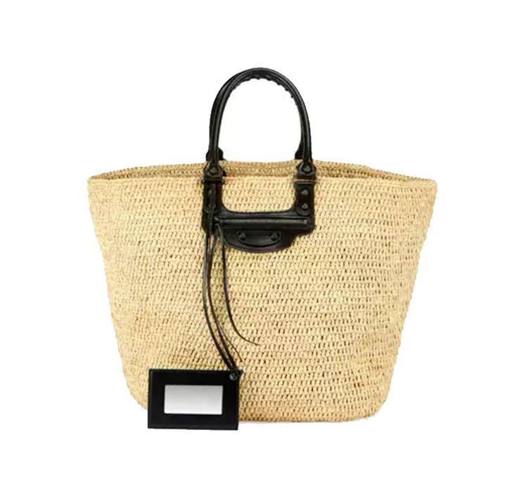 Our Guide to Wearing Spring's Boho Trend for Festival Season: Balenciaga Large Panier Tote Bag. | Coveteur.com