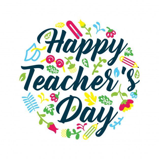World Teacher S Day Greeting Pattern In 2020 Teachers Day Greetings World Teachers Teachers Day