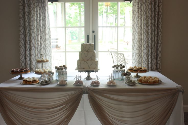 Classy sweet table.