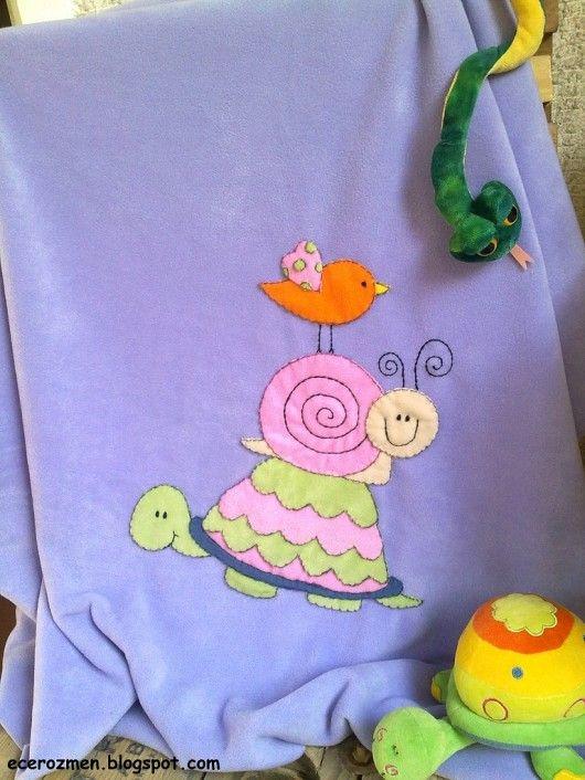 polar baby blanket, so cute...