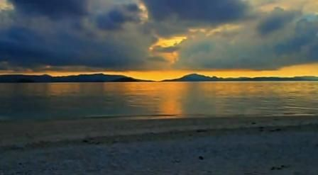 Sunset in Anambas Islands, Western part of Indonesia.