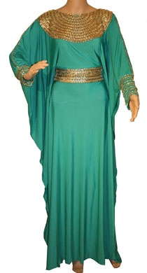 Green Turquoise Kaftan