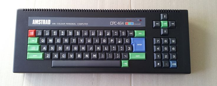 Modded Amstrad CPC 464 with no tape drive!