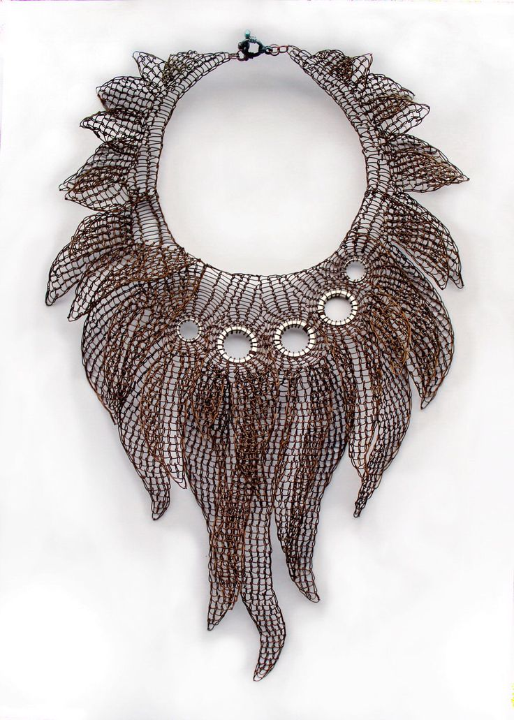 THE PRIESTESS Small Version Giant Statment Necklace Copper Wire Crocheted with Tentacles, Made to order. by Ksemi on Etsy https://www.etsy.com/listing/176532848/the-priestess-small-version-giant
