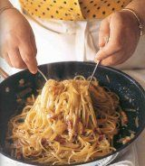 Lidia Bastianich's Linguine alla Carbonara - one of the most delicious dishes ever
