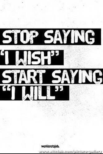 Don't wait... Do it now!