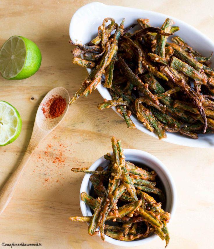 Kurkuri Masala Bhindi (Indian Crispy Fried Okra) Confused Bawarchis