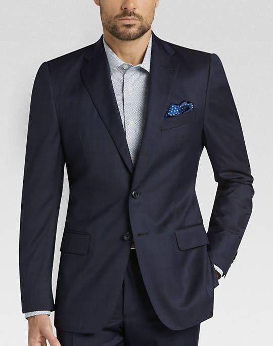ff4ee865a64 JOE by Joseph Abboud Navy Windowpane Modern Fit Suit - Mens Modern ...