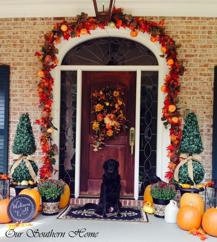 Exterior Front Door Fall Decorations: 17 Best Images About Front Door/Porch Fall Decor On