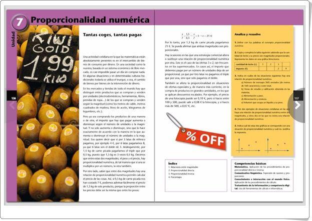 """Unidad 7 de Matemáticas de 1º de E.S.O.: """"Proporcionalidad numérica"""""""