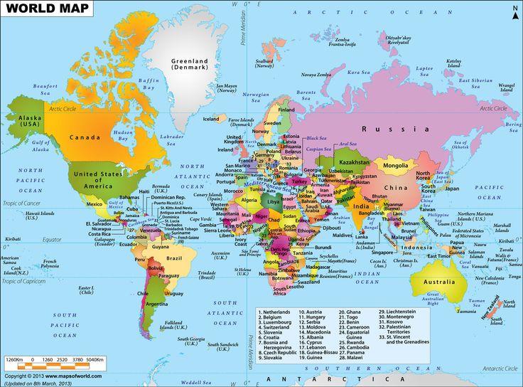Large World Map Image