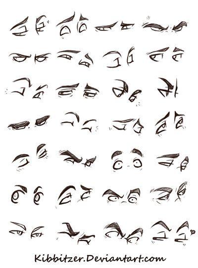 Olhos Referência Folha por Kibbitzer em DeviantArt