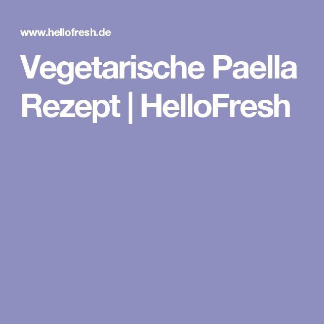 Vegetarische Paella Rezept | HelloFresh